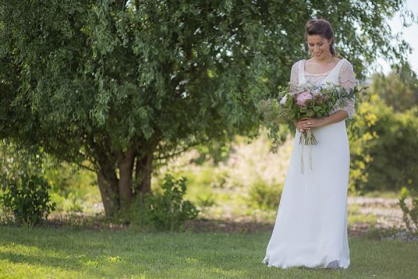 Mary Viloteau wedding dress