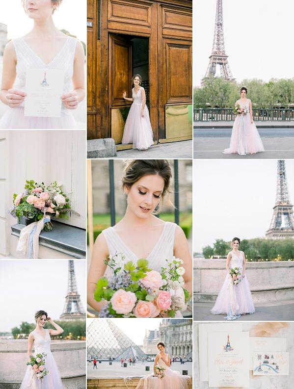 Pastel Inspired Parisian Wedding Styled Shoot Snapshot