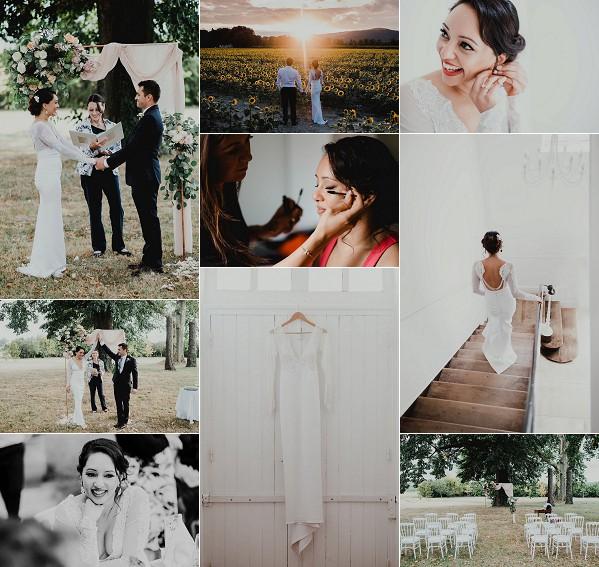 Rustic Chic Destination La Poulatte Wedding Snapshot