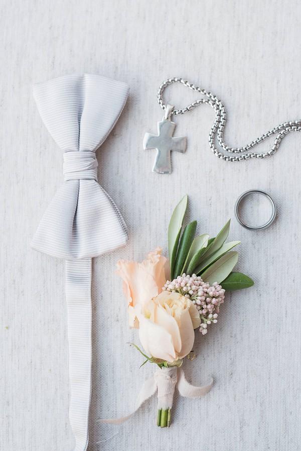 Silver groom wedding details