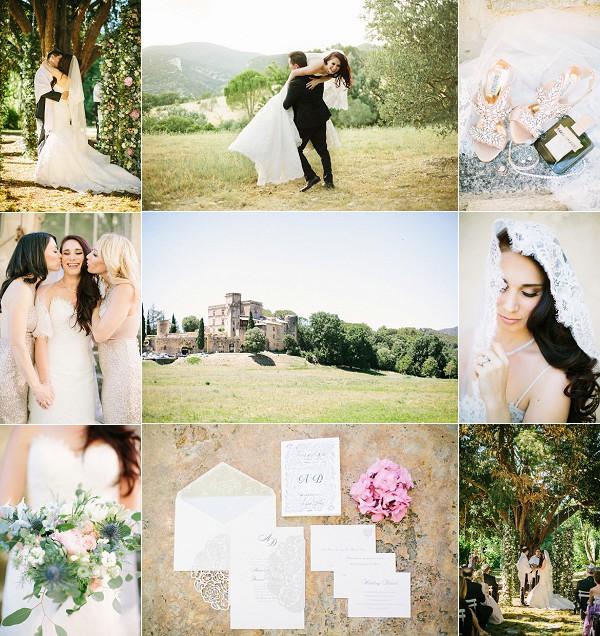 Stylish Outdoor Provence Real Wedding Snapshot