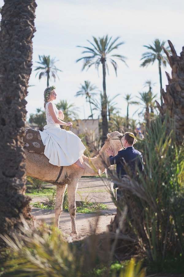 Wedding day camel ride in Marrakesh