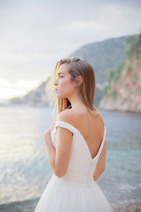 White One wedding gown