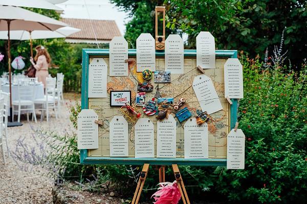 World map seating plan ideas