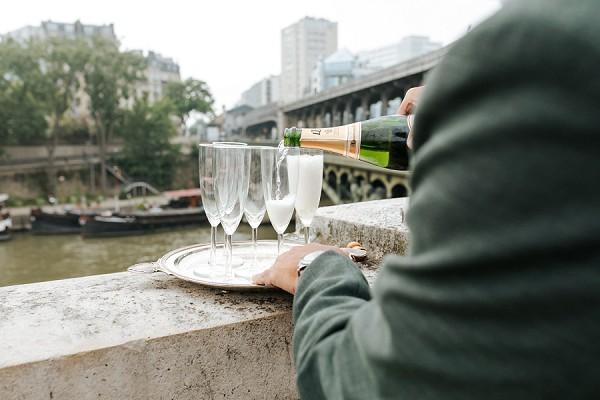 champagne wedding reception