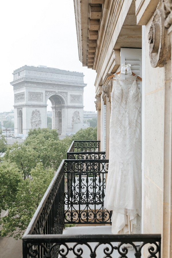 chic wedding gown