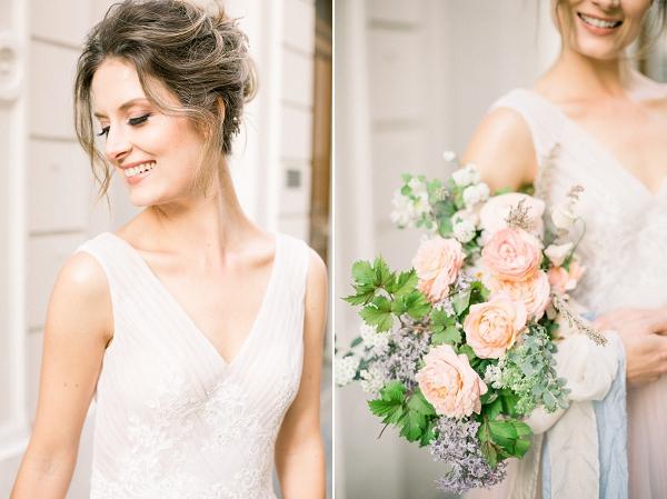 fine art inspired bridal bouquet