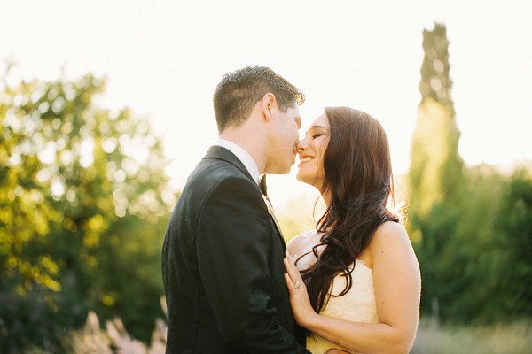 golden hour wedding photos