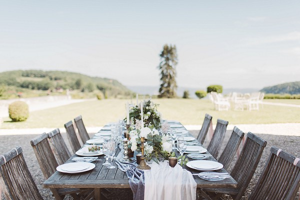 outdoor wedding table dinner