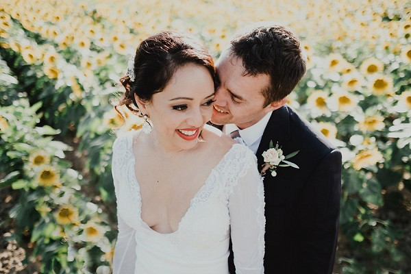 sunflower couple shoot