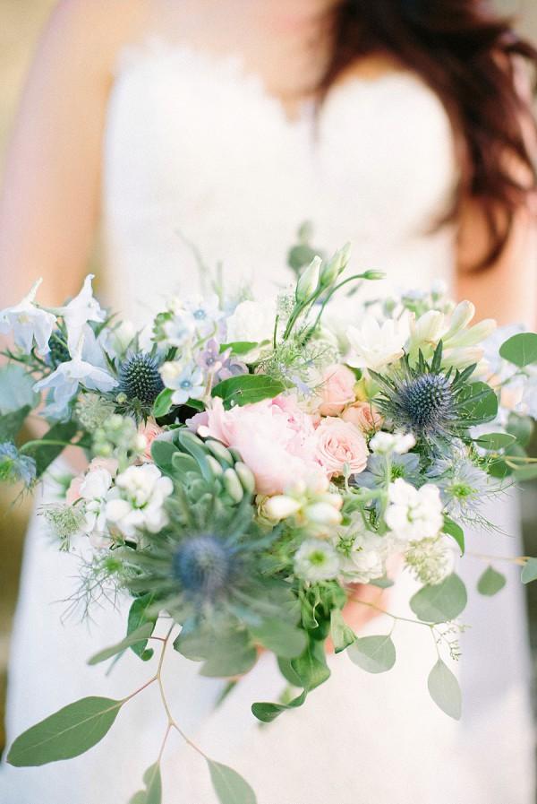 thistle bridal bouquet