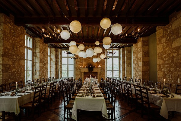 wedding breakfast lanterns