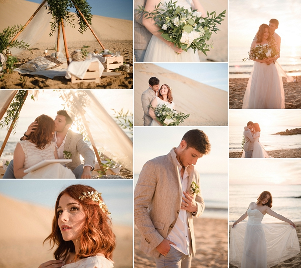 Beachside South West France Wedding Inspiration Shoot Snapshot