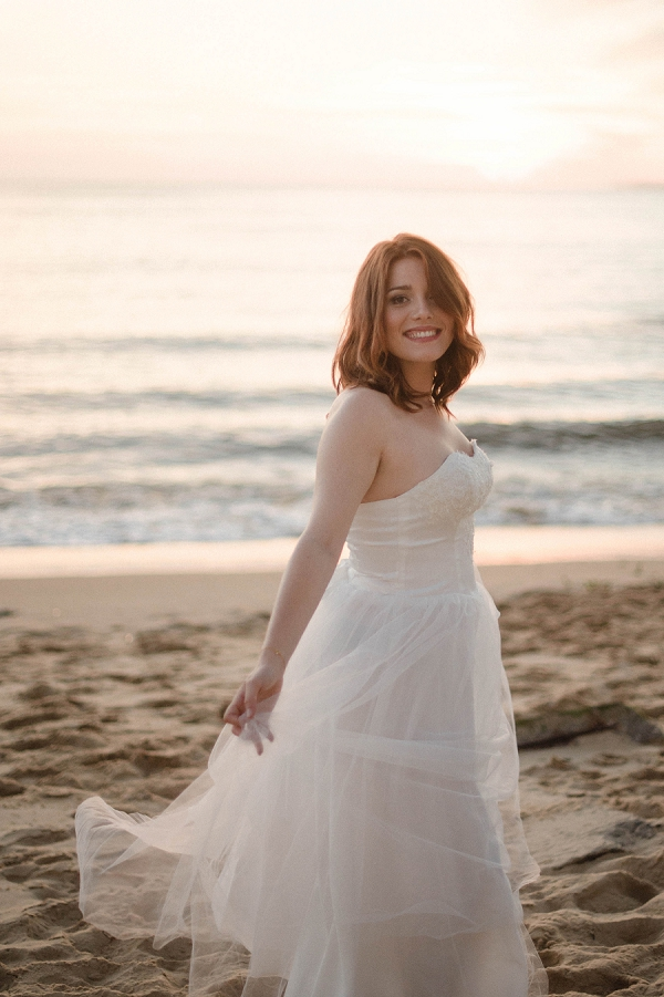 Beachside bridal portrait