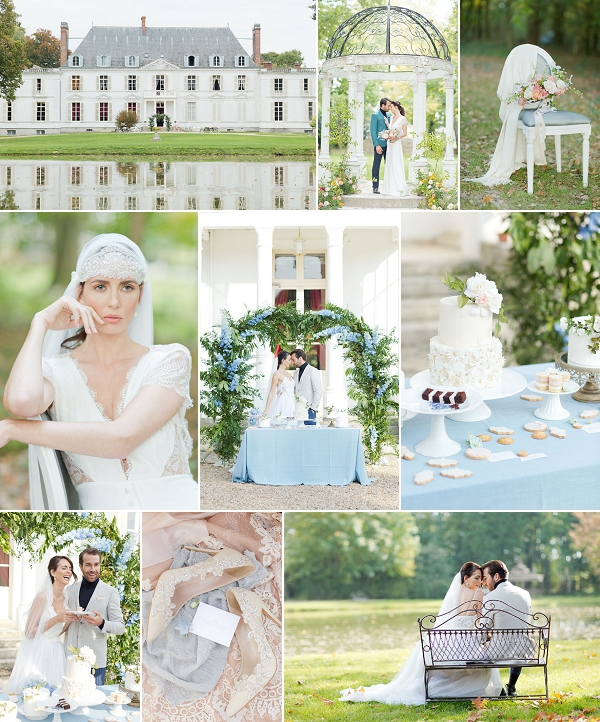 Blue Hue Inspired Chateau Barthelemy Elopement Snapshot