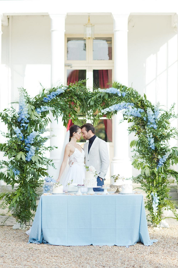 Blue Hue Inspired Chateau Barthelemy wedding