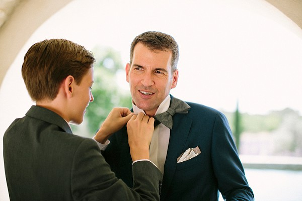 Bow tie groom prep