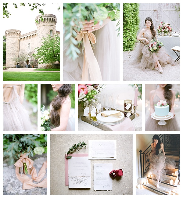 Chateau de Massillan Luxury Wedding Inspiration