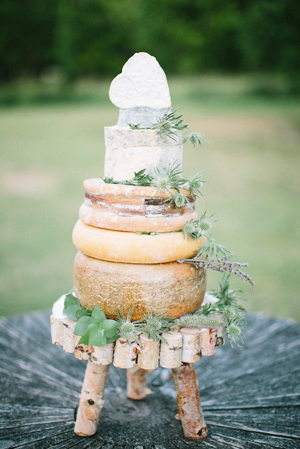 Cheese inspired wedding cake