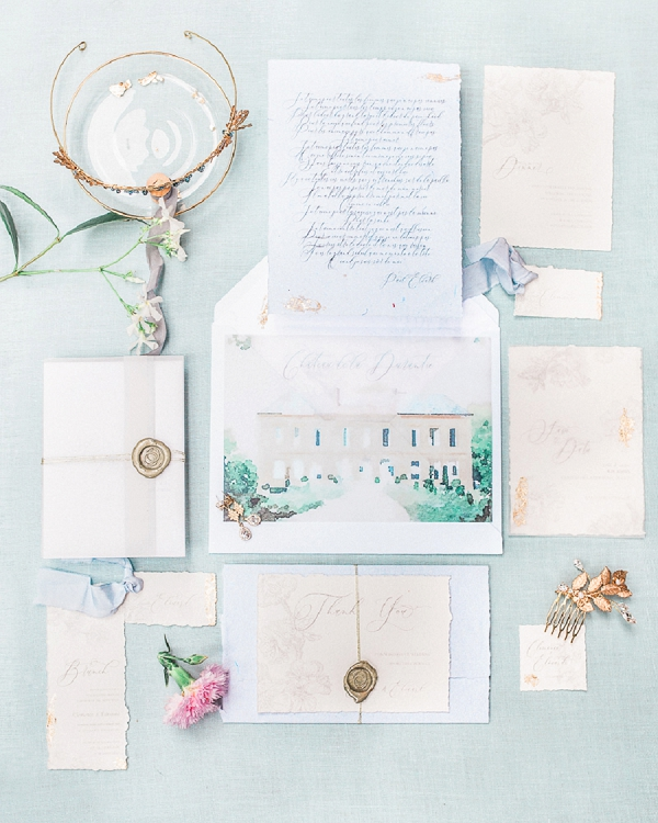Dordogne wedding stationery