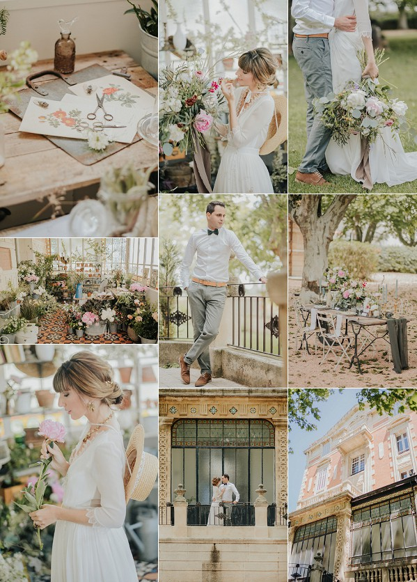 Floral Inspired Provence Wedding Inspiration Snapshot