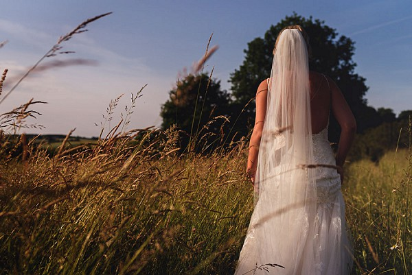 Golden hour bridal portrait
