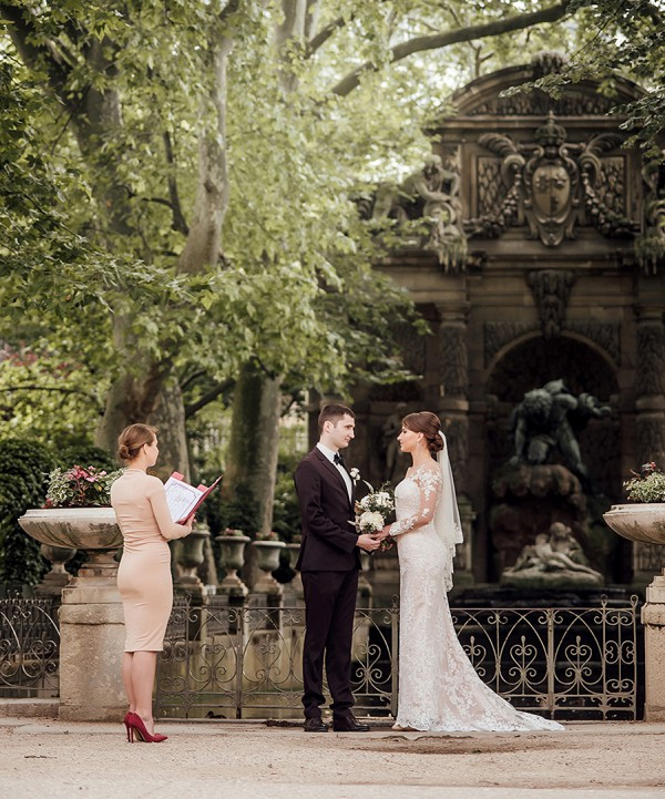 Luxembourg Gardens wedding ceremony