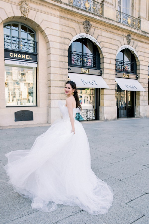 Paris bridal portraits