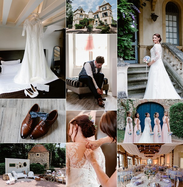 Romantic Chateau de Champlong Real Wedding Snapshot