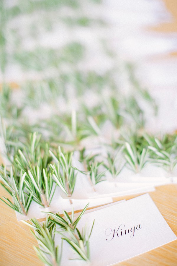 Rosemary inspired name cards