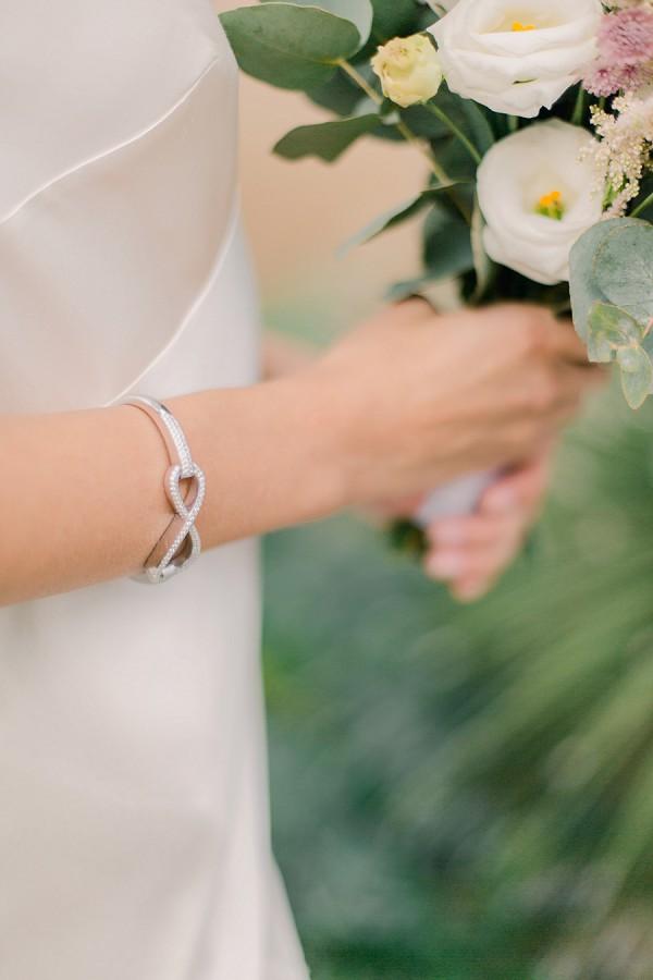 Silver infinity wedding bracelet