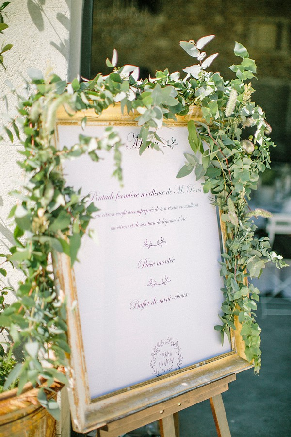 Wedding day menu ideas