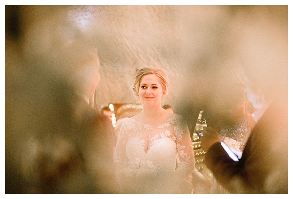 artistic shot of the bride