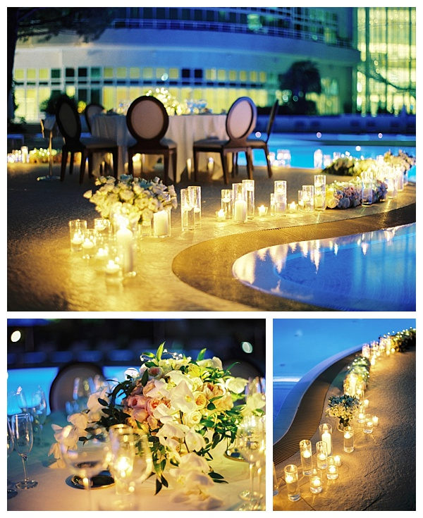 candle lit monaco wedding