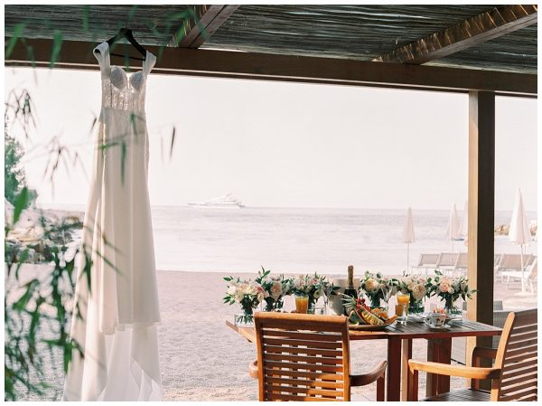 classy private beach wedding