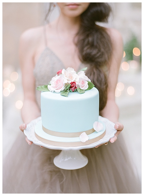 delicious light blue colored cake with lower