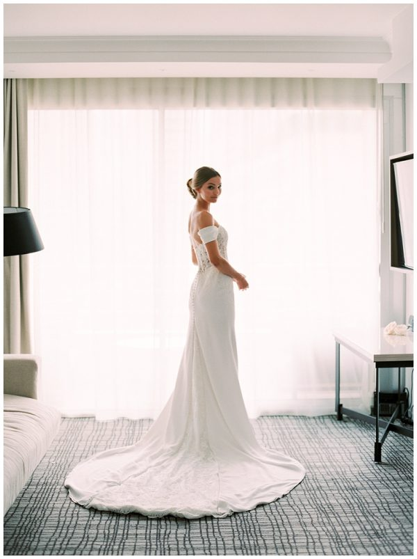 elegant white wedding dress