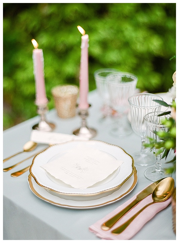 gold silverware wedding inspiration