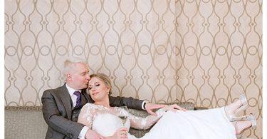 romantic bride and groom shoot