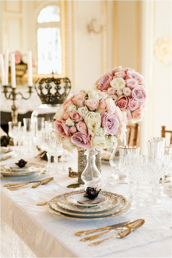 French inspired luxury wedding Chateau Saint Georges