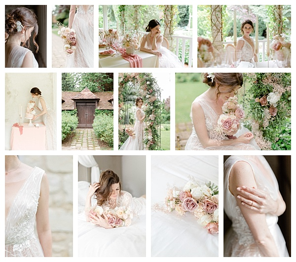 Graceful and Refined Rose Wedding Inspiration