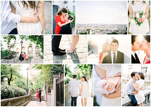 Romantic Montmartre Paris Engagement Session