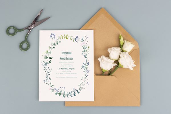 Wedding invitations from Atelier Rosemood Watercolour Meadow