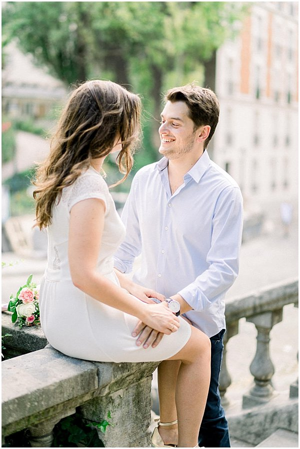 engagement shoot in paris street