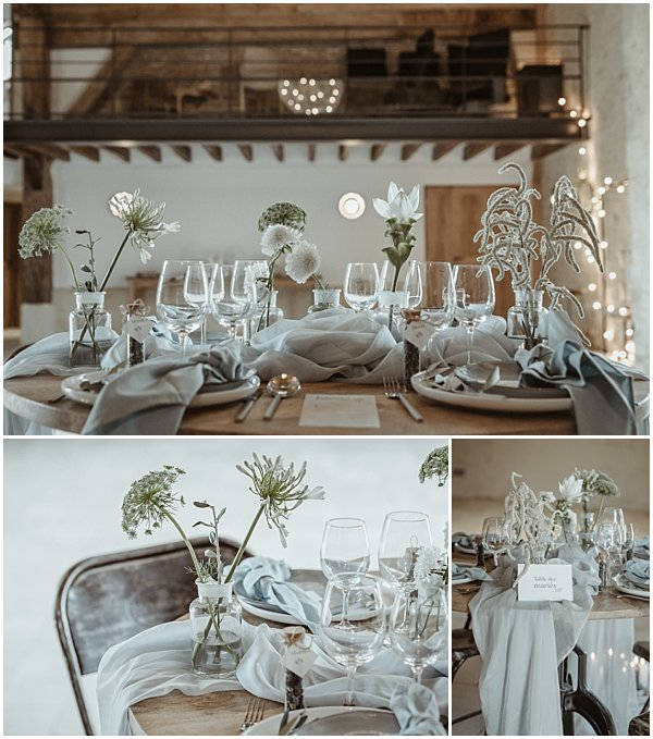 light and beautiful flowers for wedding tables