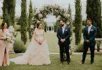 luxury wedding flowers floral arch