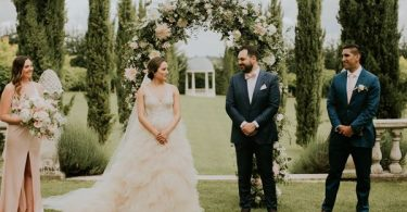 luxury wedding flowers floral arch