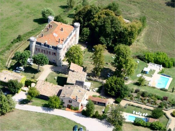 Chateau du Bijou Aerial View