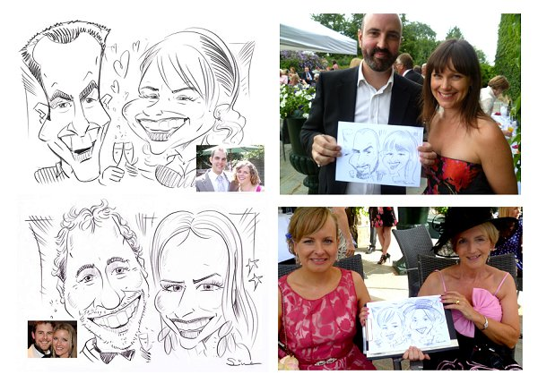 French wedding caricaturist, Caricatures 4U