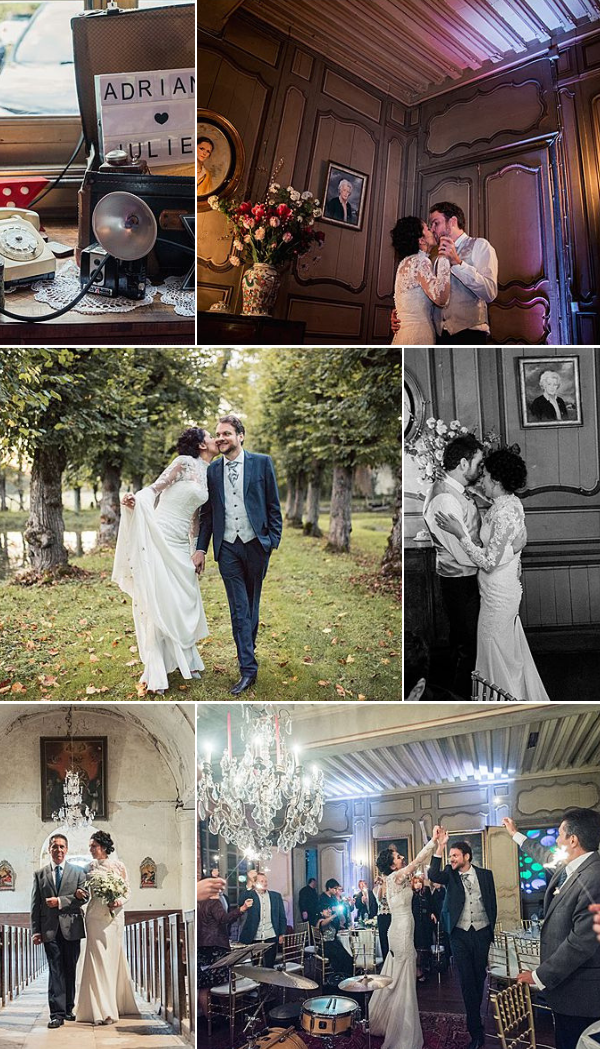 French wedding in chateau Autricourt snapshot